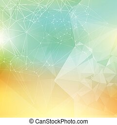 low poly background - Abstract background with a low poly...