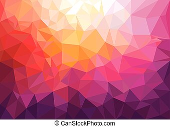 Low Poly Background - Colored low poly background.