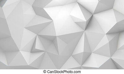 Low Poly Background - Low polygonal white waving background....