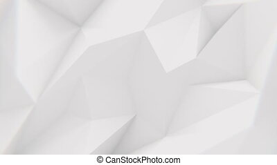 Low Poly Background - Low polygonal white waving surface....