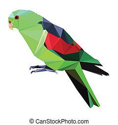 low poly bird vector