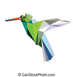 low poly bird vector