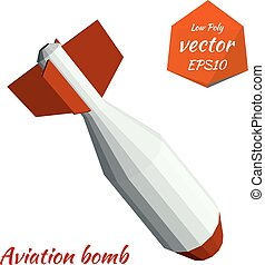 Low poly bombs. Vector illustration