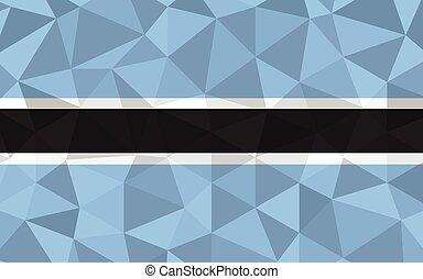 Low poly Botswana flag vector illustration. Triangular Batswana flag graphic. Botswana country flag is a symbol of independence.