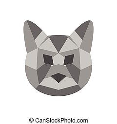 Low poly cat icon