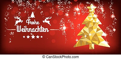 How Do You Say Merry Christmas In German.Christmas German Frohe Weihnachten Low Poly Gold Merry