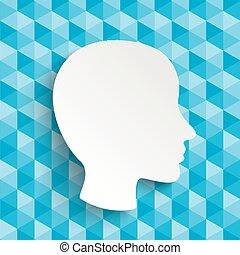 Low Poly Design Human Head