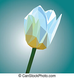 low poly flower vector