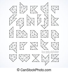 Low poly font