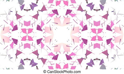 low poly geometric abstract background as a moving stained...