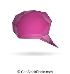 Low poly geometric speech bubble