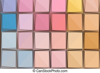 eye shadows palette - Low poly illustration background of...
