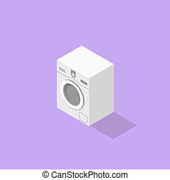 Low poly isometric washer