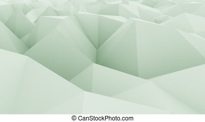 Low poly light green abstract motion background for...