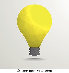 low poly lightbulb