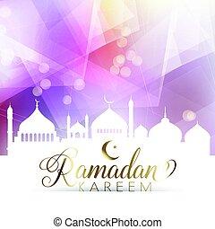 low poly ramadan poster 1205 - Ramadan poster with low poly...