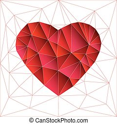 Low Poly Red Heart
