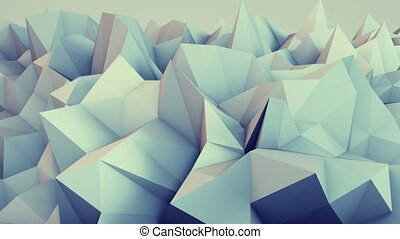 Low poly relief 3D render loop - Low poly relief. Semless...