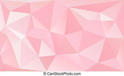 Low poly romantic pink background