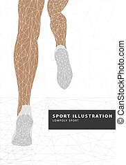 runner legs illustration