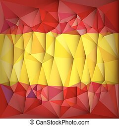 Low Poly Spain National Flag
