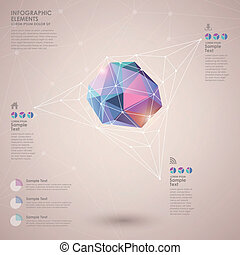 low poly style abstract infographics - low poly style vector...