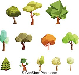 Low poly trees for gaming and more