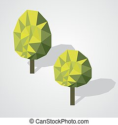 Low poly trees set