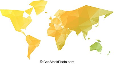 Low poly vector map of World