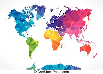 Low poly colorful world map perfect high resolution background low poly world map gumiabroncs Choice Image
