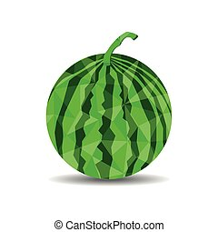low polygon watermelon