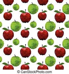 Low polygonal apple seamless pattern