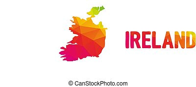 Low polygonal map of the Republic of Ireland (?ire) with ...