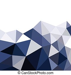 Low polygonal mountain in triangle style
