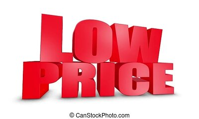 Low Price 3D Text Come Down 3D Animation Render. - Low Price...