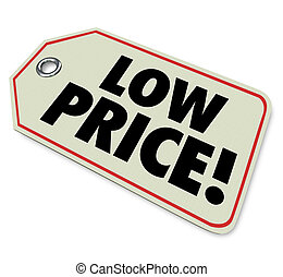 Low Price Tag Sale Clearance Discount Special Deal