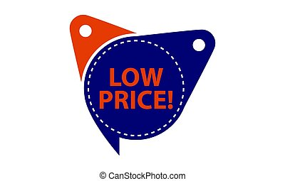 Low Price Tag Template Isolated