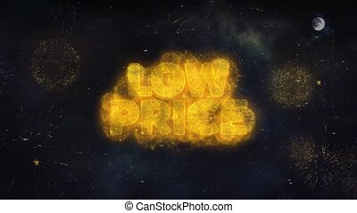 Low Price Text Wishes Reveal From Firework Particles...