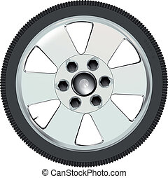 Low Profile. - A low profile car tyre on a alloy wheel.