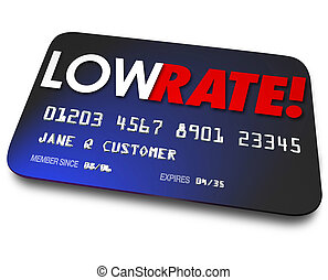 Low Rate Credit Cards Percentage Interest Charges Plastic Paymen