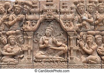 hindu gods on wal