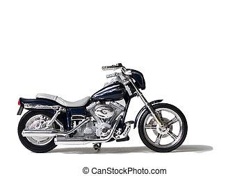 toy Harley on white