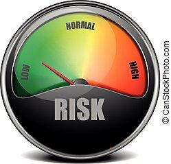 illustration of a low Risk Meter gauge, eps 10 vector