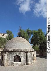 Low round building near Coptic Church