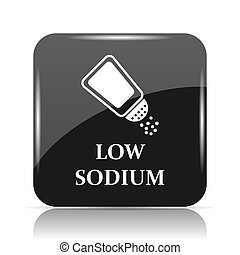 Low sodium icon. Internet button on white background.