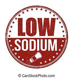 Low sodium stamp - Low sodium grunge rubber stamp on white...