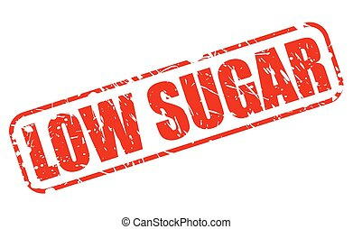 Low sugar red stamp text on white