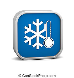 Low temperature sign on a white background. Part of a series...