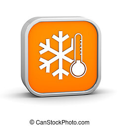 Low temperature sign on a white background. Part of a series.