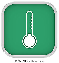 Low temperature sign on a white background. Part of a...